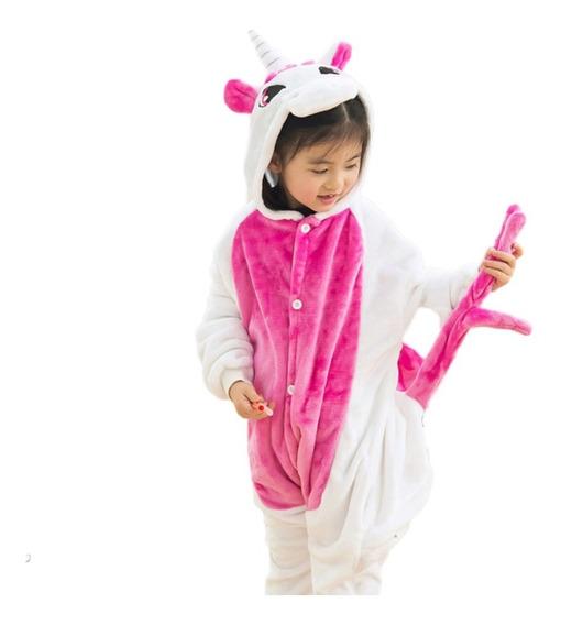 Pijama Niña Unicornio Invierno Frio Tela Polar