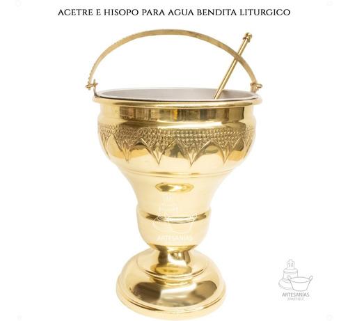 Acetre E Hisopo Para Agua Bendita Religioso A806 Grande