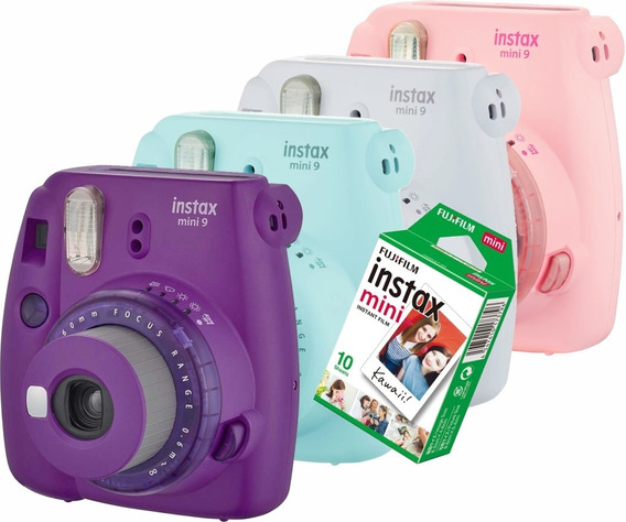 Câmera Fuji Instax Mini 9 Instantânea Fujifilm +10 Fotos Nfe