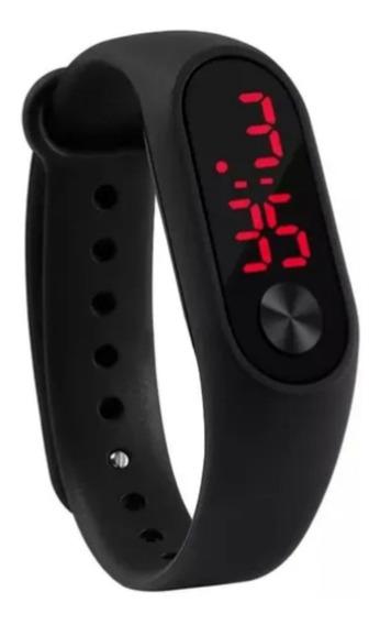 Relógio Digital Esportivo Bracelete Led Feminino Masculino J