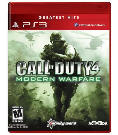 Jogo Call Of Duty Modern Warfare 4 Ps3 Usado