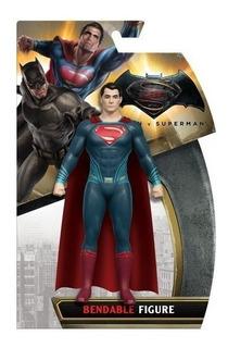Superman Muñeco Figura 15cm Liga De La Justicia Dc De Goma
