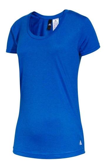 Remera Training adidas Essentials Basic Mujer Az