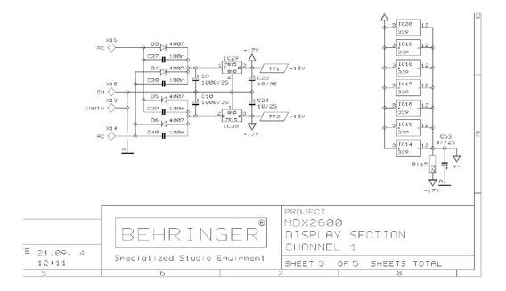 Esquema Elétrico Behringer Mdx2600 - Em Pdf -envio Por Email