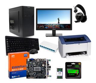 Paquete Ciber 5 Equipos J-1800 Impresora Wifi Y Accesorios