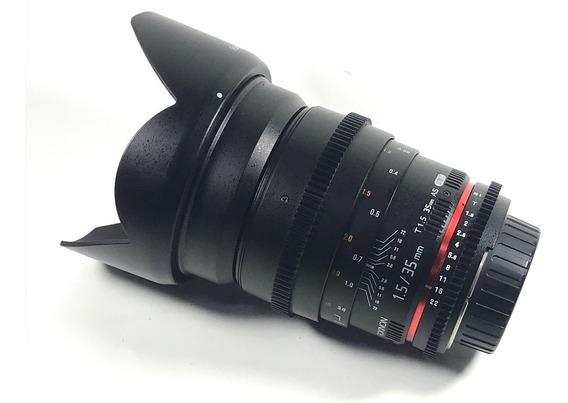 Lente Rokinon 35mm 1.5 Cine Para Nikon Nova Pronta Entrega #
