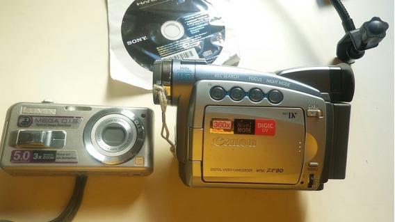 Camera Antiga Zr80 Canon + Panasonic Lumix