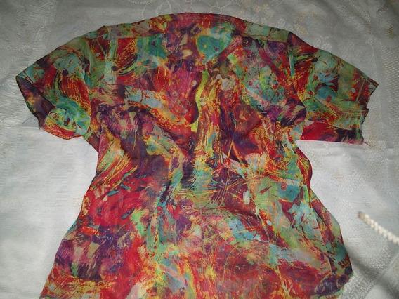 Blusa Crepe Feminina Estampa Floral G