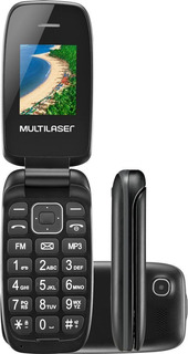 Celular Multilaser Flip Up Dual Bluetooh, Mp3, Preto - P9022