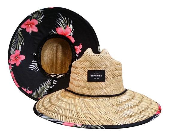 Chapéu De Palha Rip Curl Maui Straw Floral Original