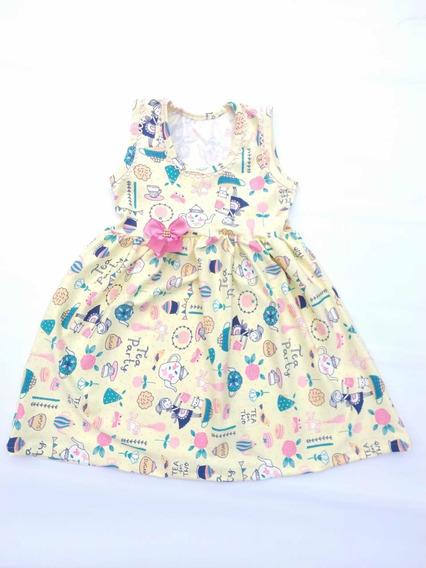 Promoção 10 Vestidos Infantil Regata Floral Enxerimento