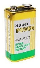 Kit Com 10 Baterias 9v Super Power Longa Duração Pilha 9v
