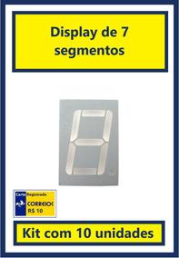 Display De 7 Segmentos - Vermelho - Kit Com 10 Unidades