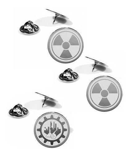Imagem 1 de 1 de Kit 3 Pin Botton Profissão Aço Radiologia Engenharia Outros