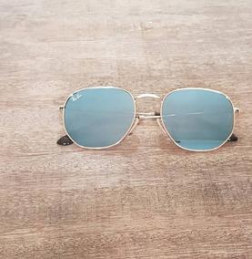 15af81502 Óculos De Sol Hexagonal Masculino Feminino Capinha E Flanela