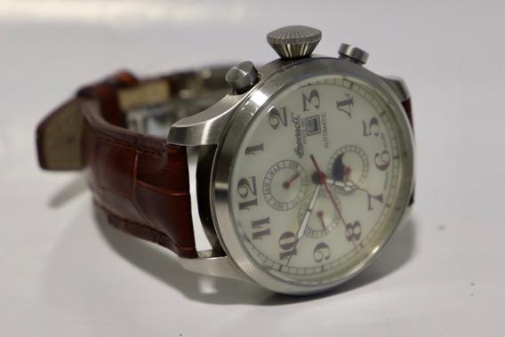 Relógio Ingerssol Automático - Couro Marrom - Pouco Usado