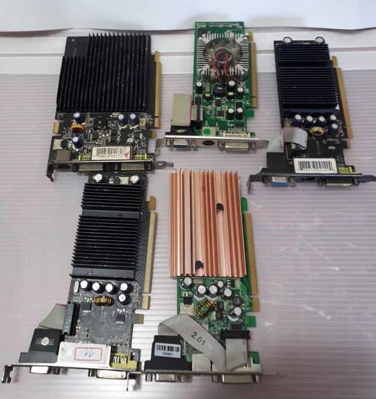 Lote Placa De Video Geforce Serie 7 - 5 Placas - Sucata