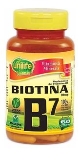 Biotina - Vitamina B7 - 60 Cápsulas 500mg