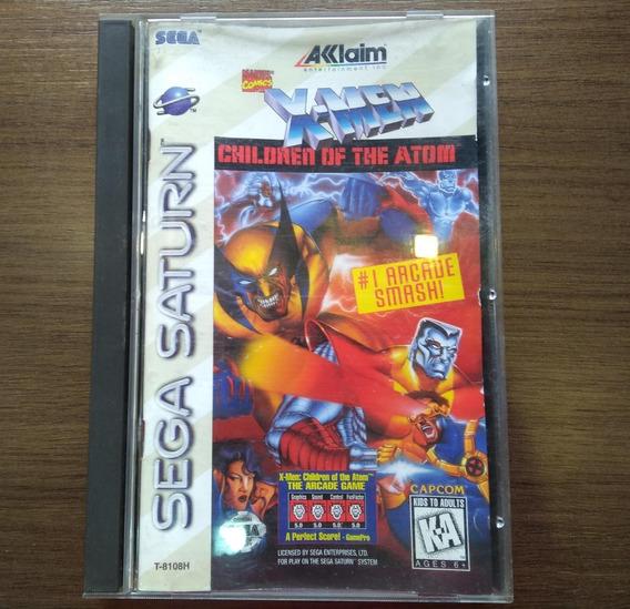 Jogo X-men Children Of The Atom P/ Sega Saturn - Americano