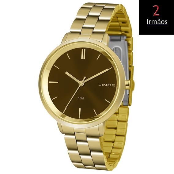 Relógio Lince Dourado Feminino Lrg617l