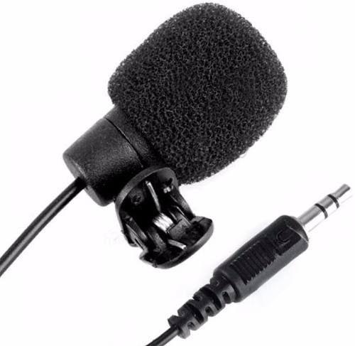 Microfone De Lapela P/ Computador 3,5mm P2 Stereo