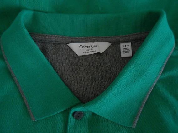 Calvin Klein, Muy Padre Playera Polo Verde Caballero
