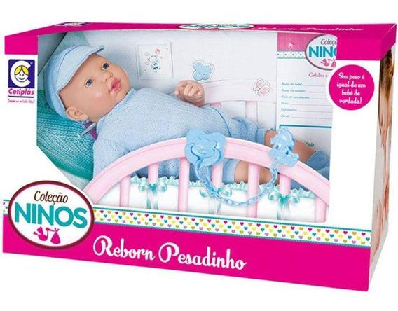 Boneca Cotiplas Reborn Pesadinho Ninos 2181 Com Chupeta