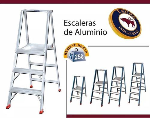 Escalera De Aluminio Con Plataforma Tauro, 5 Peldaños
