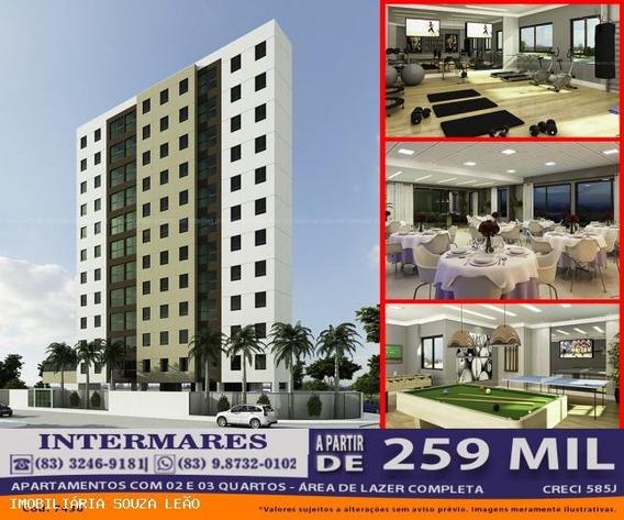 Apartamento Para Venda Em Cabedelo, Intermares, 2 Dormitórios, 1 Suíte, 1 Banheiro, 1 Vaga - 7436