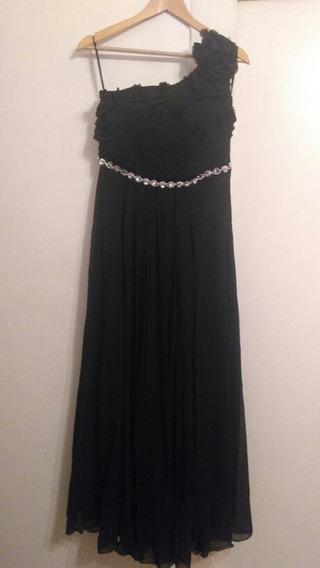 Vestido Fiesta Largo Negro. Muy Elegante.
