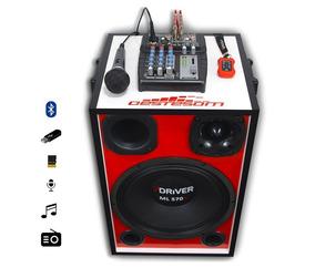 Caixa Bob Esponja Trio 7driver + Mesa Stetsom + Microfone