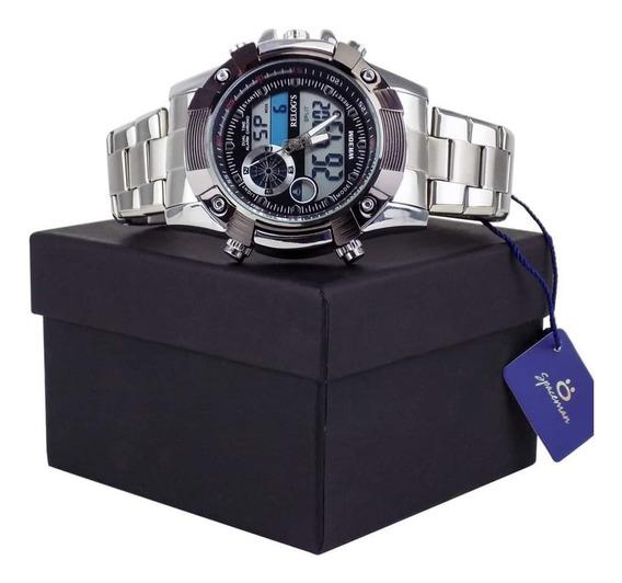 Relógio Masculino Analógio E Digital Prova D´água Cronometro