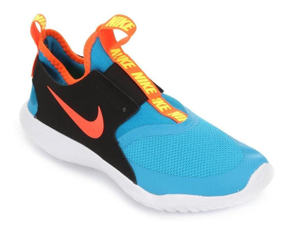 Tênis Running Nike Infantil Flex Runner Gs At4662 Azul