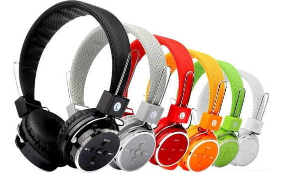 Fone Ouvido Bluetooth Sem Fio Chamada Micro Sd Fm P2 Mp3 Cel