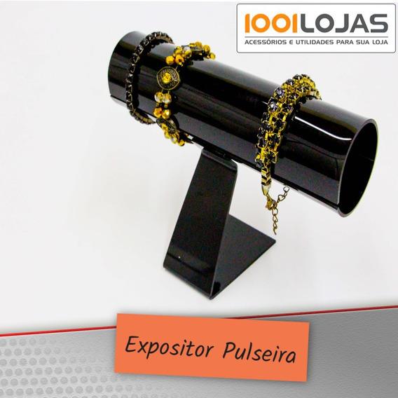 Expositor Acrílico Preto P/ Pulseiras Relógios Rabicó Kit 2