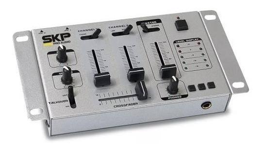 Mixer 2 Canais Skp Sm 35 Cinza - Para Dj - Promoção