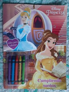 Libro Para Colorear Disney Princesa Cumpliendo Sueños 32 Pag