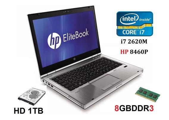 Notebook Hp Intel I7-2620m, 8gb, Hd 1tb / Hp 8460p Promoção!