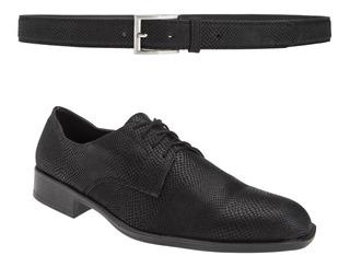 Zapatos Con Cinto Vívora Moda Vestir Eco Cuero Importado