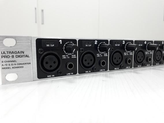Conversor Behringer Ultragain Pro-8 Digital Ada8000