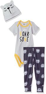 Conjunto De Pantalón, Gorro Y Gorra De Gerber Para Bebés, 3