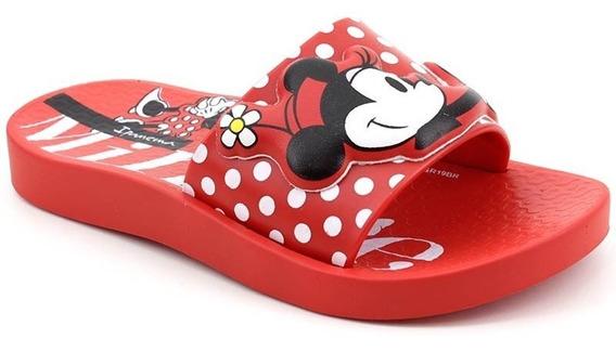 Chinelo Slide Grendene Minnie 26424 Vermelho Loja Pixolé