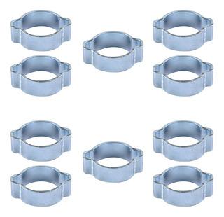 sujetador de la fontaner/ía del aro del acero inoxidable para el hogar 13-16mm Clips dobles de la manguera del alambre abrazaderas ajustables de la abrazadera de la leng/üeta de la manguera del agua