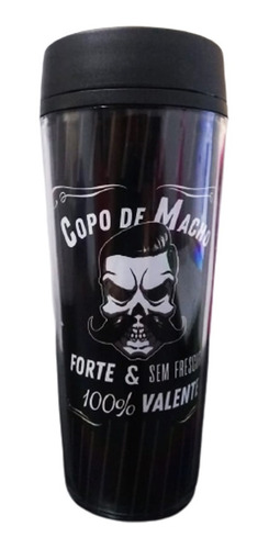 Copo Térmico Preto Masculino 350ml - Copo De Macho Forte
