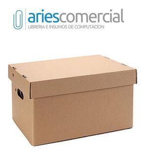 Caja Archivo Carton Americana Reforzada 42x32x25 Pack X 25 U