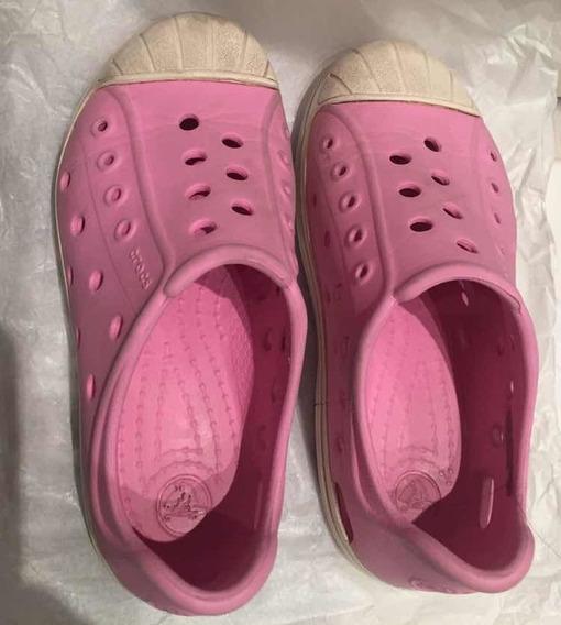 Crocs Tipo Zapatillas Rosas