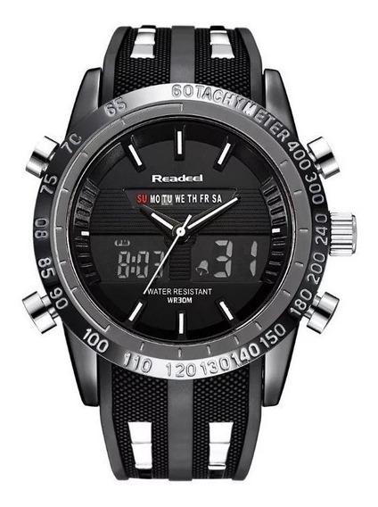 Relógio Readeel Pulseira De Silicone Masculino Dual Time