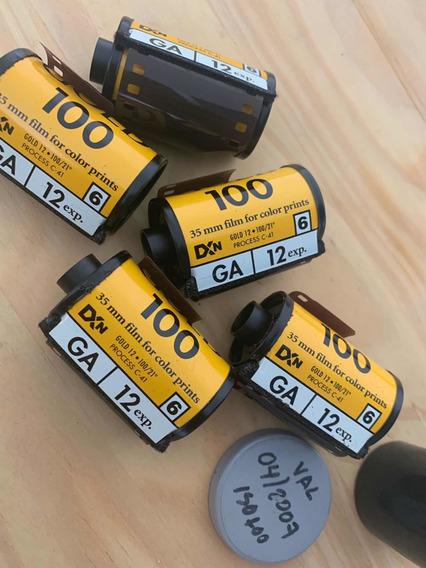 5 Filmes Kodak 100 12 Poses ( Vencido 4/2007)