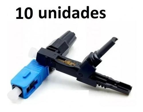 Conector De Fibra Optica Rapido Sc/upc Reutilizavel 10 Pçs