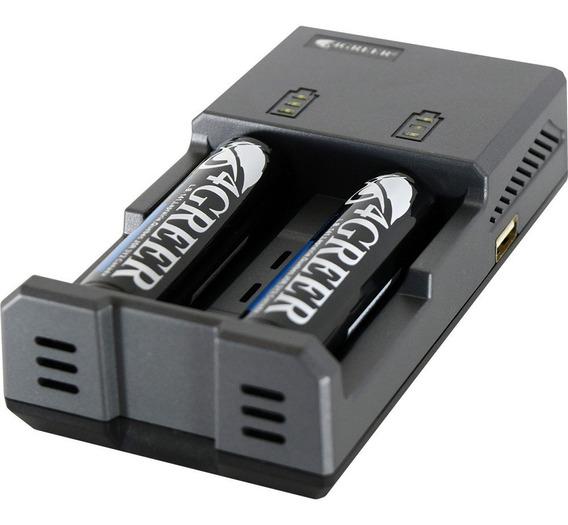 Carregador De Bateria 18650-2 Canais 4greer/tiablo Universal